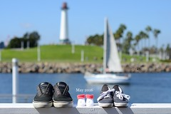 Baby announcement. (Ray Yanez) Tags: ocean california baby lighthouse beach sailboat nikon pregnancy pregnant announcement longbeach newborn comingsoon niftyfifty d7000