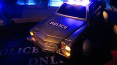 Corgi Toys Buick (Century) Regal Police Car No. 416 Converted Into A Futuristic Sci-Fi Hover Car : Diorama A Hover Police Car City Scene - 5 Of 98 (Kelvin64) Tags: city car century toys buick corgi no police scene scifi converted futuristic regal diorama hover 416 a into