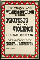 NUWSS protests against violence c. 1912