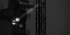 Signal (meistermacher) Tags: light sea bw lighthouse white black art nature night clouds dark landscape licht blackwhite seaside nikon meer nacht shore d200 nikkor signal nordsee weiss 70200 f28 schwarz available leuchtturm deutsche bucht wattenmeer wangerooge helgoland einfarbig blackandwhiteonly theunforgettablepictures spiekerooge seefeuer aflickrexplorephoto dirkfietzfotografie