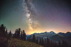 Milky Way over Easy Ridge (absencesix) Tags: longexposure mountains nature colors landscape washington solitude unitedstates hiking noflash september 16mm solitary facebook milkyway 2015 whatcomcounty manualmode mountainridge mountainsummit 500px iso12800 astronomicalobject whatcompeak easyridge mountainsmountainranges selfrating4stars subjectdistanceunknown silesiaridge astrophotographynightphotography fe1635mmf4zaoss sonyvariotessartfe1635mmf4zaoss ilce7rm2 sonyalphaa7rii september112015 copperridgeloop northcascadestraversebackpackingtrip0906201509122015 whatcomcountywashingtonunitedstates backpackingactivityaction silesiacamp 3040secatf40 48°5338n121°296w