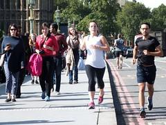London Runner (Waterford_Man) Tags: street bridge people london girl path running run jogging runner jog jogger