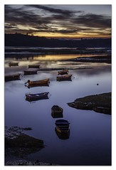 SVB004 (KANPAZ) Tags: sunset red sea orange water colors beautiful yellow puente boat nikon barcos paisaje amanecer nocturna barcas cantabria reflejos cantabrico sanvicentedelabarquera infinita acounts lamaza d7000 amacing
