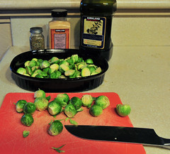 Baked Brussel Sprouts DEH_2768 (sobca) Tags: food salt oliveoil brusselsprouts baked garlicpowder herbesdeprovence