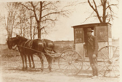 Mail Being Delivered by Horse-Drawn Wagon, RFD