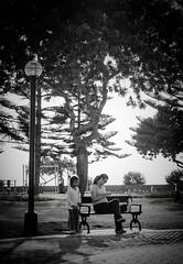 Peacefull park (Carlos Ramirez Alva) Tags: park parque sunset blancoynegro peru monochrome lima ocaso miraflores