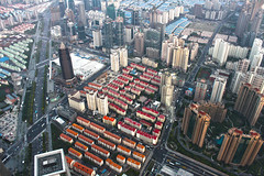 Atop the World - Shanghai World Financial Center (lukedrich_photography) Tags: china skyscraper canon asia shanghai highrise prc pudong eastasia peoplesrepublicofchina kohnpedersenfox    shanghaiworldfinancialcenter  t1i canont1i moribuildingcompany