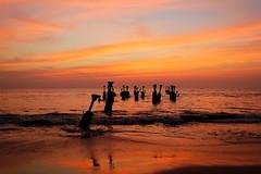 Sun sets on January 1, 2016 (mnrajwb (Mohan Nagarajan)) Tags: beach ngc calicut kozhikode kozhikodebeach