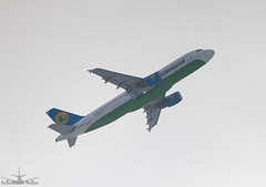 Airbus A320-214 (ssajiji) Tags: canon airplane russia moscow aircraft air jet airbus uzbekistan dme airliner canon70200f4l airbusa320  canon70200  domodedovo uzbekistanairways  uudd canoneos7d canon7d  uk32014