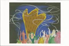 Alice with tea (LillieBuggy) Tags: postcard alice tea art disney