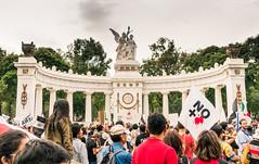 No More Blood (andrewpabon) Tags: pea nomoreblood mexicocity ciudaddemxico diadeindependencia a6300 musuem hemicicloabenitojuarez sony 2016 protest sel1670z independanceday