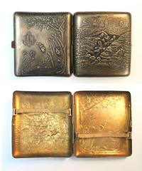 cigarette case ' nos poilus ' (fumsup) Tags: trench art wwi ww1 world war one first great grande guerre wk1 french cigarette case nos poilus our soldiers circa 1915 19141918