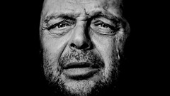 Men from Berlin... (MarcusEnglerFotografie...) Tags: portrait older charakter daylight blackandwhite sw berlin natural men melancholie sadness eyes face contrast