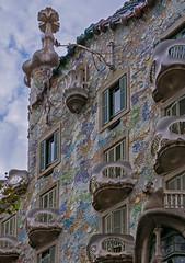 The famous Casa Batllo by Antoni Gaudi  (Barcelona - Spain  (Panasonic Lumix DMC-LX100 Compact) (1 of 1) (markdbaynham) Tags: casa batllo antoni gaudi building ornate decorated famous historic catalan spainish espana espanol urban metropolis street panasonic dmclx100 lx100 compact 2475mm f1728