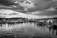 Brian_Georgetown Yacht Basin 1_LG BW_091816_2D (starg82343) Tags: 2d brianwallace water reflections ripples sky clouds boats watercraft marina georgetownmarina georgetownyachtbasin piers pilings dynamic md maryland georgetown grayscale monotone blackandwhite bw