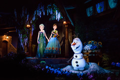 A Frozen Ever After (TheTimeTheSpace) Tags: waltdisneyworld disneyworld disney epcot worldshowcase norway frozeneverafter frozen olaf anna elsa nikond810 nikon3514 darkride