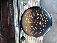 takeout seating only (Ian Muttoo) Tags: img20161014115842edit toronto ontario canada gimp wilbur mexicana wilburmexicana restaurant takeout seating only takeoutseatingonly stool