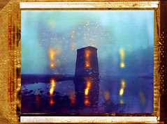 Magic Bridge Piling (DRCPhoto) Tags: roidweek 2016 polaroid 64 tungsten pinhole karlos 66 lensless photography west virginia cheat river