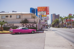 Pink Cadillac (jimbob195) Tags: pink cadillac vegas lasvegas strip downtown elvis chapel wedding weddings drivethru front back rear retro antique caddy elope palm palmtree palmtrees chrome bumper love pyramid street elvisweddingchapel man woman fins car grille stack headlights hood phone fone telephone warm cruiser 50s 60s 70s weddingcar bride groom brideandgroom nevada american americana state alter jilted 2016 vacation holiday