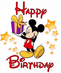 []LINE10 (sutaemon) Tags: sticker message    disney happy birthday mickey mouse