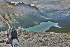 Osprey Poco Carrier (barry gahan) Tags: osprey backback ospreypoco peytolake canadianrockies alberta canada hiking bowsummitlookout icefieldsparkway