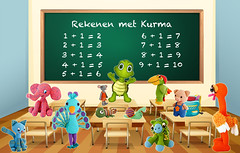 Rekenen met Kurma (Kurma's Creative World) Tags: illustration graphic drawing cartoon picture clipart learning studying classroom board blackboard chalkboard table desk chair chairs furniture room knowledge education elementary secondary uniform dresscode backpack backtoschool happy empty blank floor wall frame wood inside indoor kindergarten stationary accessory