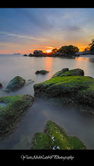 Moss rock with sunset background at Sungai Batu (YasirLatib (come back)) Tags: malaysia asia everyone autumn beach black blue bw canon clouds color day fall family film flower friends fun garden geotagged green holiday instagramapp iphoneography island photography nature night nikon square squareformat summer sun sunset photo photographer photograph vacation travel sea sky water tree trees yellow yasirlatib landscape photos penang boat sunrise trip yasir yasirabdlatib macro love light