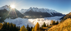 Climbing to heaven (Perez Alonso Photography) Tags: france frenchalps francia alps chamonix sea clpuds clouds sun mountains landscapes autumn mont blanc daylight