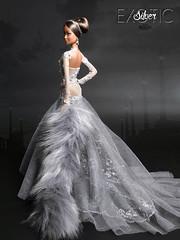 EXOTIC SILVER (davidbocci.es/refugiorosa) Tags: silver exotic donation charity auction spanish barbie convention 2016 mattel fashion doll muñeca refugio rosa david bocci ooak