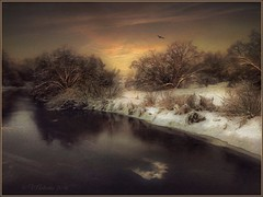 Winter evening (odinvadim) Tags: mytravelgram textured textures iphone editmaster travel iphoneography sunset evening iphoneonly painterly artist snapseed landscape specialist iphoneart graphic painterlymobileart winter