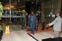 UN Security Council delegation arrive at the Flueve Congo Hotel in Kinshasa.Venue for for thier meetings during visit to the DRC. (MONUSCO) Tags: unsc drc rdc monusco