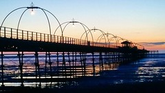 Southport Pier at sunset (jonssey500) Tags: sunset night pier southport southportpier instagramapp