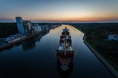 Kiel Canal (Patrick Pohlmann Outdoorfotografie) Tags: germany canal ship angle sony wide sigma alpha 1020 schiff kiel nordostseekanal slt 58 a58 weitwinkel