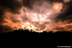 Sunrise at the Castle (leeb.black) Tags: red sky black castle clouds sunrise stirling atmospheric