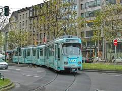 Rheinbahn Dsseldorf - GT8S 3063 mit Vollwerbung (Haeppi) Tags: tram streetcar dsseldorf pnv tranva nahverkehr rheinbahn dwag gt8s strasenbahn
