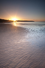 Whitby Sunset (djshoo) Tags: sea summer beach evening sand yorkshire shoreline ripples 2015