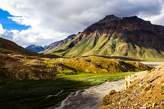 Beautiful Lahaul Valley in Himachal Pradesh (marcusfornell) Tags: india mountain mountains green asia asien himalaya indien himalayas spiti himachalpradesh southasia kinnaur lahaulvalley lahaul sdasien