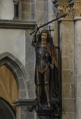 Smiter of Satan (Lawrence OP) Tags: sculpture statue michael dominican saints cologne kln medieval victory angels satan sword devil stmichael defeat archangel sanktandreas