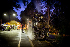 Geared up (michaelgreenhill) Tags: night au australia trains victoria steam pbr emerald climax puffingbilly 1694 climaxtwylightouting railpage:event=23