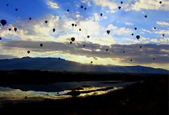 Reflective 3 (echoroo) Tags: balloons albuquerque balloonfiesta2015
