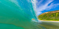 Shorebreak (j . f o o j) Tags: hawaii oahu sandys sandybeach waterhousing nikkor16mmf28fisheye liquideyewaterhousing nikond610
