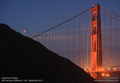 Supermoon Eclipse (TTVo) Tags: sanfrancisco california usa goldengatebridge marinheadlands lunareclipse supermoon2015