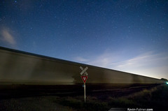 Boxcars (kevin-palmer) Tags: railroad autumn sky motion fall sign night clouds train stars evening illinois october crossing tracks rail astrophotography astronomy passing yield starry speer starkcounty kevinpalmer pentaxk5 samyang10mmf28