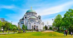 Church of Saint Sava (free3yourmind) Tags: park people green church serbia passing belgrade beograd saintsava