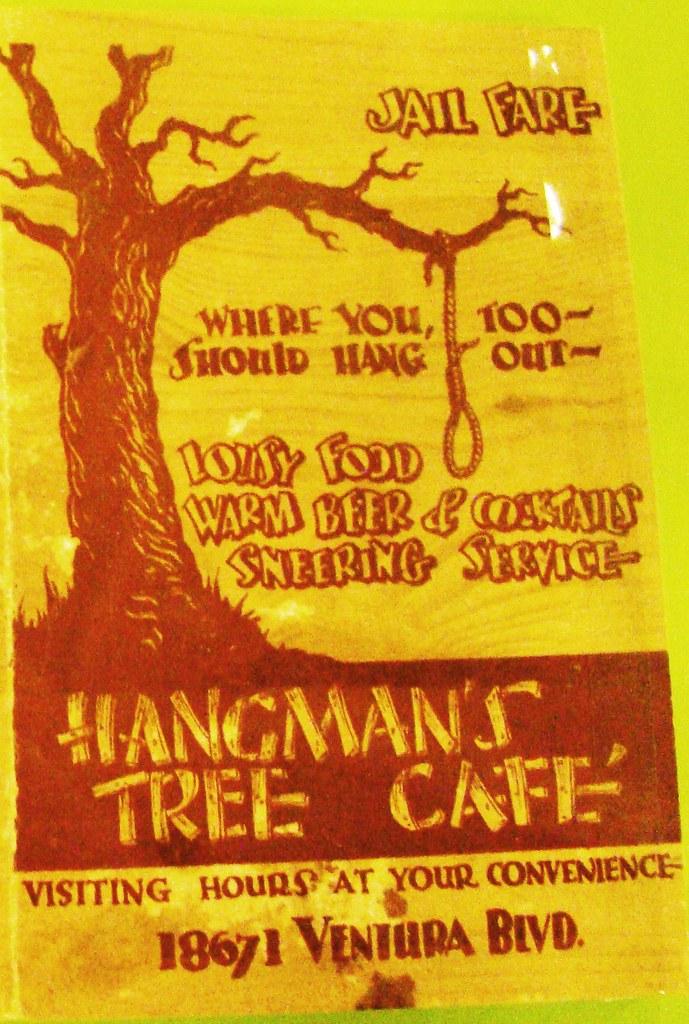Hanging Tree Cafe Menu