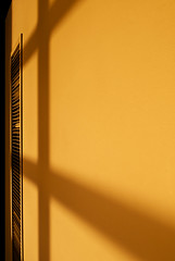 So much yellow, so little time (L. Paul) Tags: abstract yellow vent shadows library mountpleasant iowa hallway minimalism yellowwall henrycounty