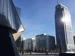 A different view on the Stationsplein (okebaja) Tags: netherlands station skyscraper hotel rotterdam manhattan nederland centraal stationsplein coolblue