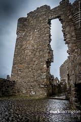 Duncluce Entrance Arch (Mark R Farrington) Tags: uk sea castle rain architecture contrast canon photography eos coast ruins europe unitedkingdom britain cliffs 7d northernireland ulster countyantrim dunluce dunlucecastle desc2012