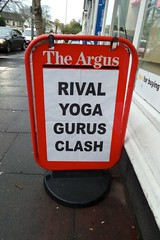 Rival Yoga Gurus Clash (Brombles) Tags: news yoga sussex brighton hove clash rivals guru argus gurus brightonargus yogagurus