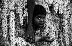 Koovagam 2015 (venmathisindhuja) Tags: flowers boy white black hand leg templecar